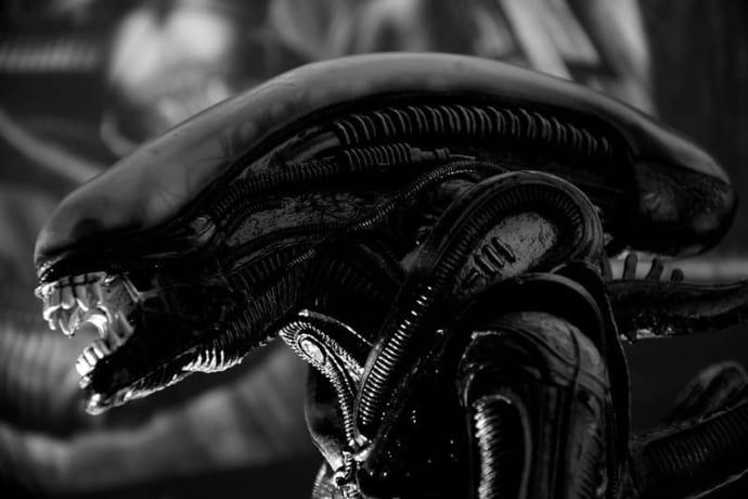 horror sculpture alien HR Giger