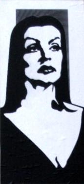 Vampira stencil design