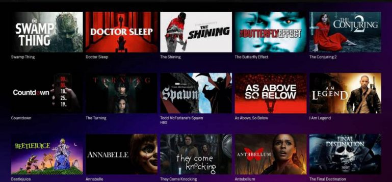 HBO Max Horror Movies