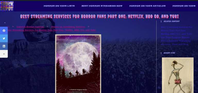 Horror on Streaming Services Articles